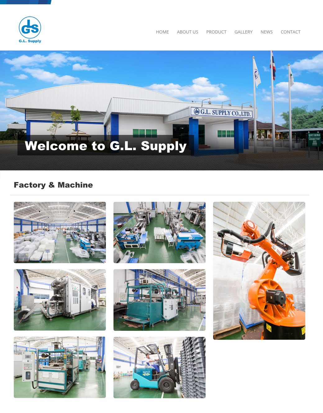 GL Supply - The best thermo forming supply in Thailand © Pixel Planet Design
