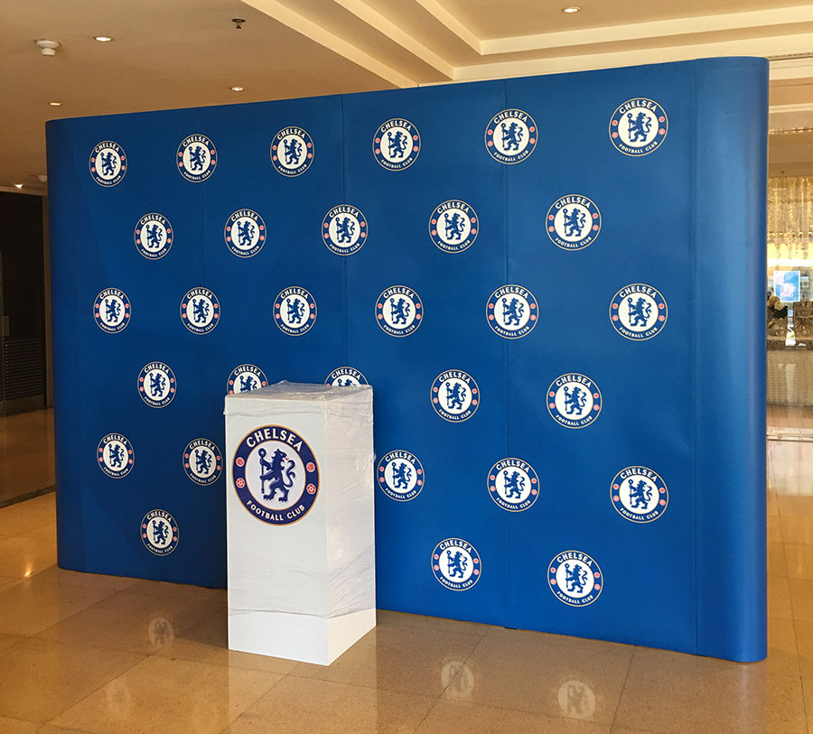 Football club backdrop meeting party and press conference © Pixel Planet Design