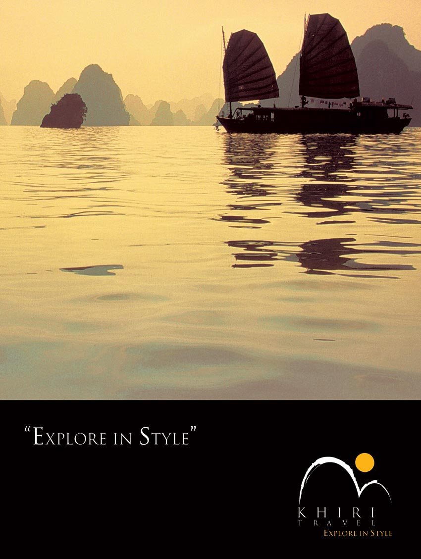 Explore in style with Khiri Travel © Pixel Planet Design