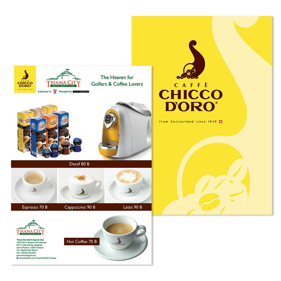 Chicco d'Oro coffee cafe Thailand © Pixel Planet Design
