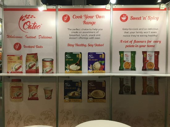 Booth display printing for international food product brand © Pixel Planet Design