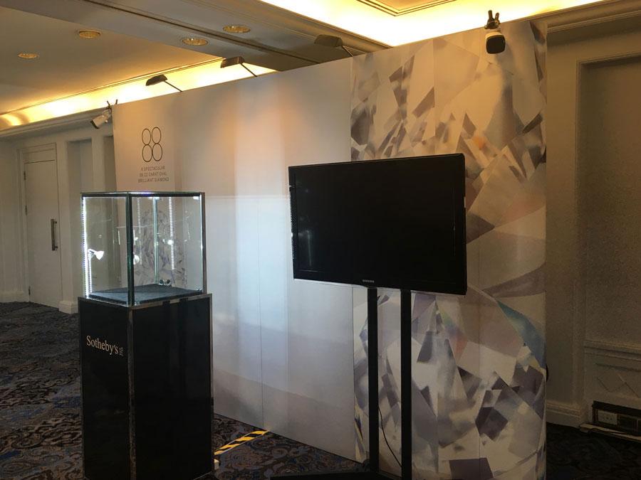 Backdrop display for luxury assets © Pixel Planet Design