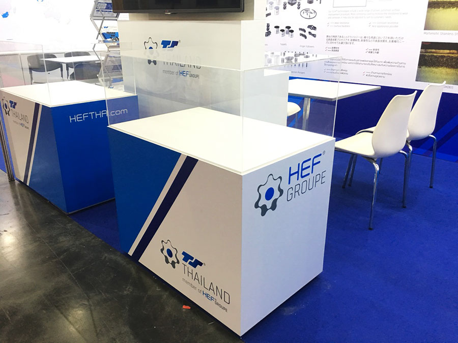 Booth display for company © Pixel Planet Design